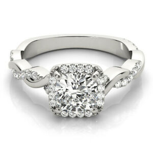GIA Flawless Diamond Engagement Ring 3.50 CTW Round Shape Twisted Design 18k