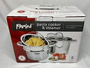 Parini Pasta Cooker & Steamer With Integrated Colander 4 Piece, 5 Qt.