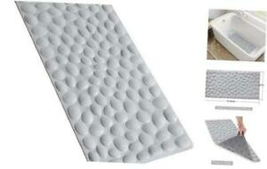 OTHWAY Non-Slip Bathtub Mat Soft Rubber Bathroom Bathmat with Strong Suction Cup