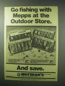 1983 Mepps Lures Ad Panfisher Basser Trouter