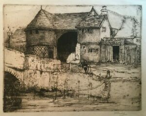 Magaret M. Rudge (1875-1972) Signed Etching $40.00