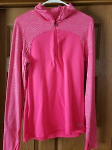 WOMENS LG PINK UNDER ARMOUR PARTIAL ZIP.. GOOD CONDITION LOOK..... $14.99
