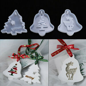 Xmas Tree Elk Silicone Moulds Molds for Resin Casting Jewelry Making DIY Crafts
