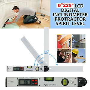 0 225° Digital Electronic Level Angle Finder Goniometer Protractor Gauge Ruler $55.00