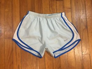 NIKE Womens Blue White Running Athletic Shorts Gym Lined Size Small Fits 24W VG $14.75