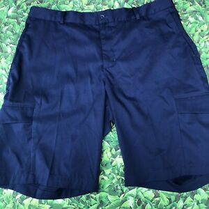 NIKE GOLF Shorts Men's Size 34 Dri Fit Flat Front Navy $25.00