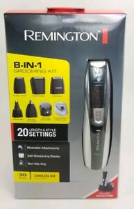 Remington Rechargeable Hair Clipper beard trimmer Men 8 in 1 Grooming Kit PG350