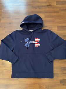 Mens Size Small Under Armour Navy Blue Protect This House Hoodie $19.99