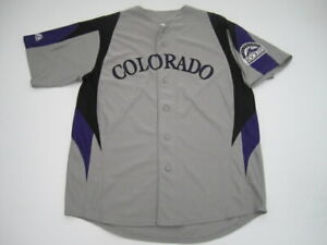 Mens Large Colorado Rockies Majestic gray stitched jersey $35.00