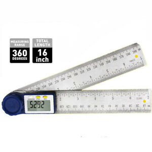 8in LCD Digital Protractor Angle Finder Gauge Ruler Woodworking Stainless Steel $17.99