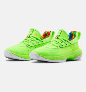 Under Armour Kids Pre School UA Curry 7 3022114 302 Basketball Shoes Size 3Y NWB $69.98