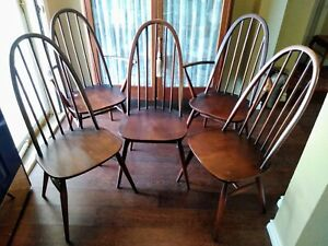 Ercol Quaker Back Windsor Chairs Made in England