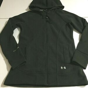 Under Armour Storm Womens Medium Dark Green Sweatshirt Zip Up Hoodie $14.99