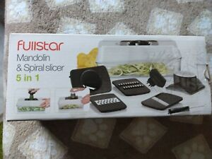 Fullstar 5-in-1 Mandoline Slicer and Vegetable Spiralizer w/Food Catch Tray new.