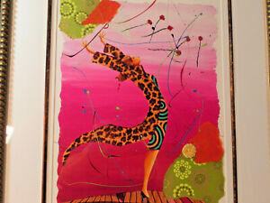 MARCUS GLENN PAINTING quot;PINK STORMquot; FRAMED SIGNED MIXED MEDIA COA amp; APRSL $747.00