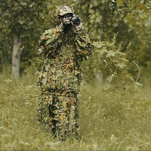 Man Hunting Clothes Suit Outdoor Camouflage Clothes Ghillie Suit Jacket Pants