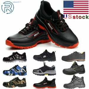 Men#x27;s Safety Work Shoes Outdoor Boots Steel Toe Sole Breathable Sneakers US7 11