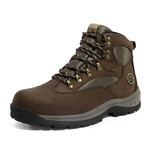 NORTIV 8 Men#x27;s Hiking Boots 24H Outdoor Waterproof Mid Ankle Leather Hiker Boots