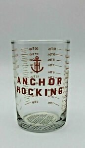 ANCHOR HOCKING 5 oz Clear Glass Measuring Cup Bar Tools Jigger Shot Glass NEW $8.48