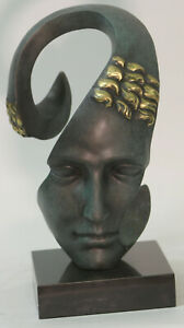 Genuine Solid Bronze Abstract Modern Art artwork Male Face by Salvador Dali SALE $389.00