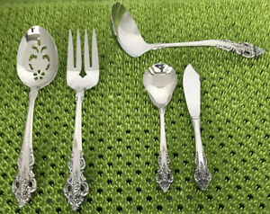 5 Pc Oneida Community CHERBOURG Serving Set Stainless Flatware