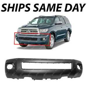 NEW Primered Front Bumper Cover Fascia for 2008 2014 Toyota Sequoia w Park Fog $215.14