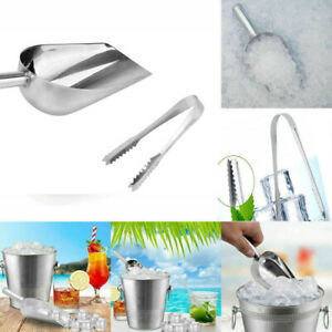 Stainless Sweet Candy Buffet BBQ Ice Scoops Tong Wedding Bar Party Kitchen Tool