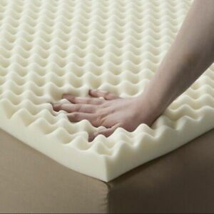 Foam Convoluted Bed Mattress Topper Pad 4 in. Twin Size Memory SOFT Orthopedic $27.99