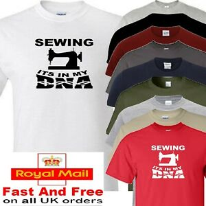 sewing t shirt its in my dna GBP 12.00