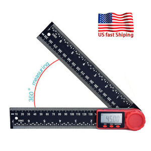 360° LCD Electronic Digital Protractor Angle Finder Gauge Ruler With Batteries $13.99