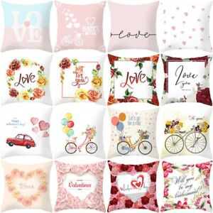 18quot;x18quot; Pillow Case Sofa Car Throw Cushion Cover Home Decor Lovely Couple Gift