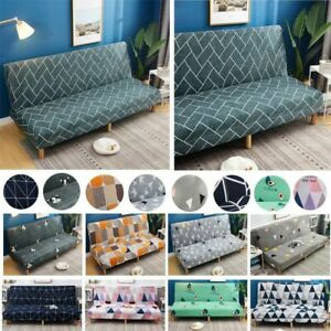 Stretch Sofa Bed Cover Folding Armless Elastic Furniture Slipcover Living Room
