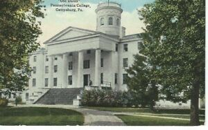 Vintage Old Dorm Pennsylvania College Gettysburg PA UNUSED POST CARD $9.59