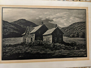 Original Signed Etching by Asa Chefetz quot;In the Hill Countryquot; $126.00