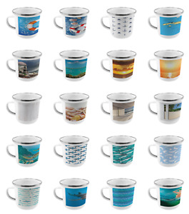 Ambesonne Ocean Scene Camping Cup Stainless Steel Mug for Indoors Outdoors $19.99