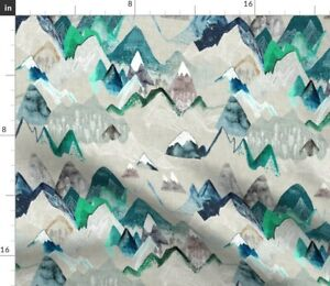 Mountain Call Adventure Camping Rustic Spoonflower Fabric by the Yard