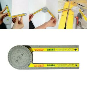 Multifunction Miter Saw Protractor Angle Finder Measuring Ruler Tool Carpentry $10.08
