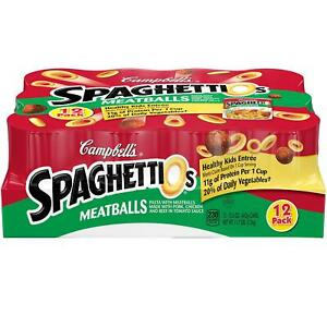 Campbell#x27;s SpaghettiOs Canned Pasta with Meatballs 15.6 oz. 12 pk.