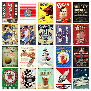 Retro Tin Metal Signs Home Bar Club Kitchen Man Cave Beer Wall Decorate Poster