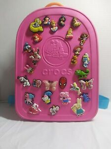 Croc Pink backpack with 28 pins