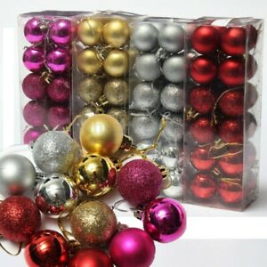 24Pcs Big Christmas Tree Baubles Balls Decor Ornament Xmas Wedding Party 30mm