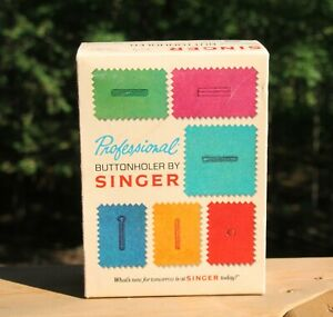 1973 Singer Sewing Professional Buttonholer 381116 Original Package Instructions C $24.99