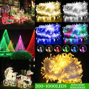 1 10pcs 100 1000 LED Fairy String Light Christmas Party Wedding Lamp Outdoor USA
