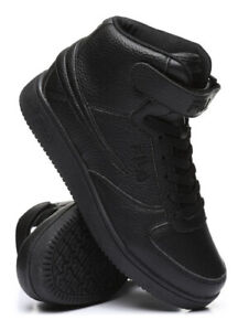 Fila A High Top Textile Leather Mens Shoes Sneakers Black Ankle Strap Size 8 13 $48.95