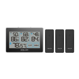 BALDR B0317 Digital Wireless In Outdoor Weather Station Humidity Meter 3 Sensors