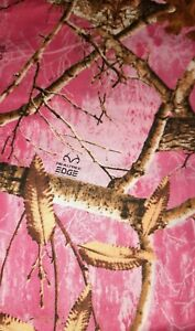 Real Tree Pink Camouflage Cotton Fabric FQ