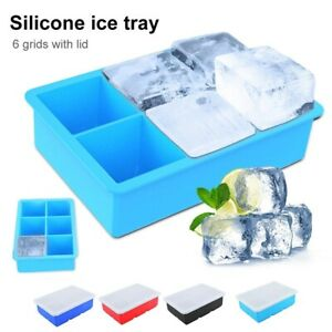 Big Ice Cubed Maker Large Cube Square Tray Molds Whiskey Ball Cocktails Silicone