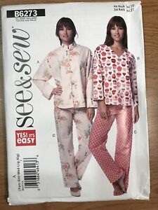 SEE amp; SEW quot;Very Easyquot; Sewing Pattern B6273 Misses#x27; Jacket Top Pants Xsm Xlg $8.00