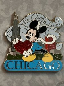 Exclusive Disney Store *Windy City Chicago* Trading Pin MICKEY MOUSE $22.50