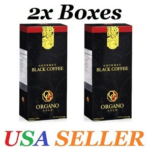 2 Boxes ORGANO GOLD GOURMET BLACK COFFEE Expire on 07 2022